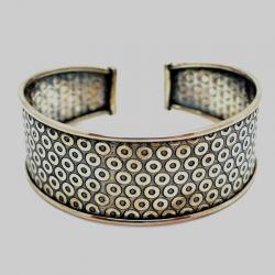 """Life Circles"" Silver Bracelet"
