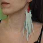 "Handmade ""Fringe"" Earrings with Wood and Leather by Gianna.V"
