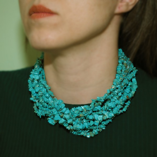 """""""Turquoise"""" Necklace with Natural Stones"""