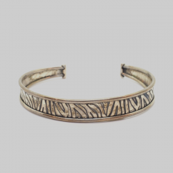 """Lucky"" Bracelet with Hand-made Carvings"