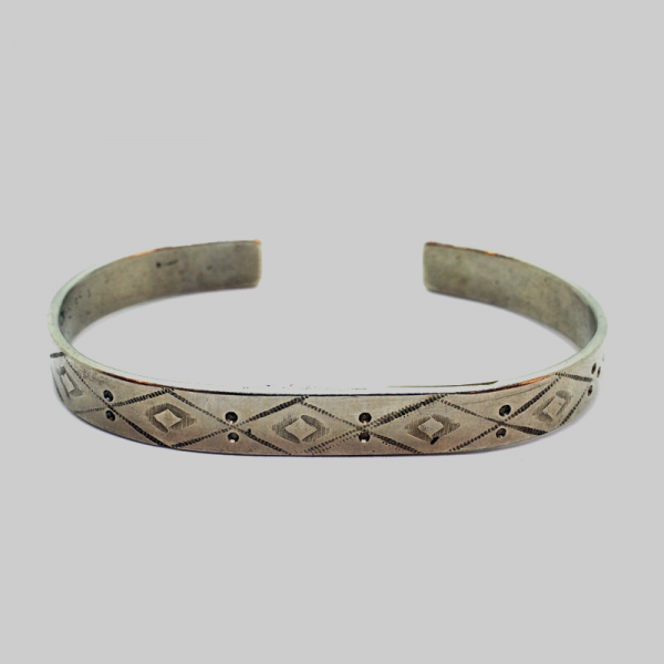 """Navajo"" (Indian Antique) Bracelet with Hand-made Carvings"