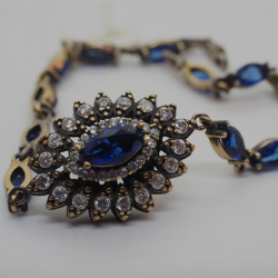 """""""Sea Eyes"""" Bracelet with natural stones"""