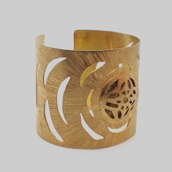 Gold Handmade Cuff by Gianna.V