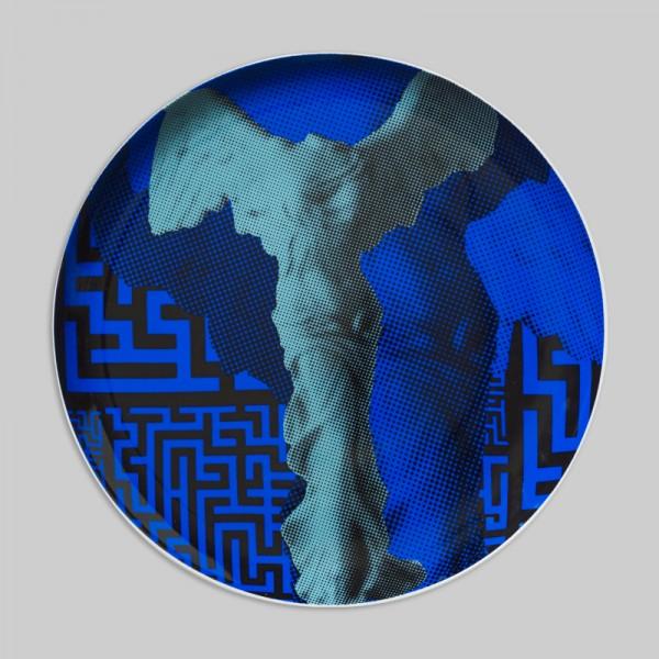 """Wall Deco Plate """"Nike maze"""""""