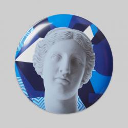 "Wall Deco Plate ""Venus Blue"""