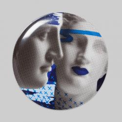"Wall Deco Plate ""Artemis & Venus Blue"""
