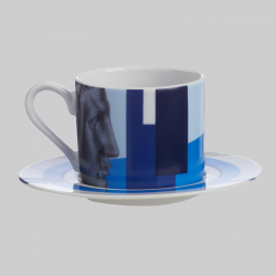Cappuccino Cup Hermes Blue