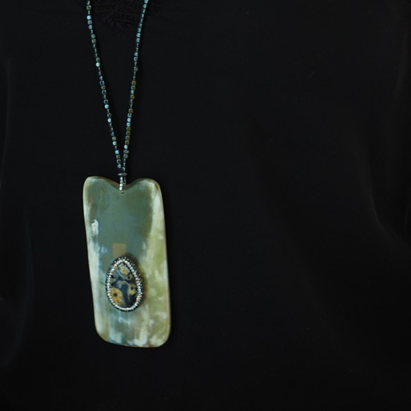 """""""Nature"""" Pendant with Natural Stones and Crystals"""