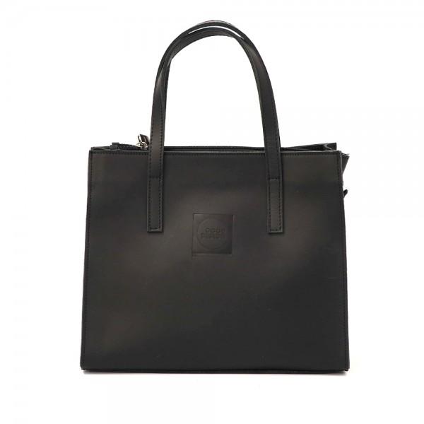 Good Design® Black Leather Handbag