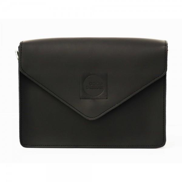 Good Design® Cross Body Black Leather Bag